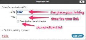 How to add a text link