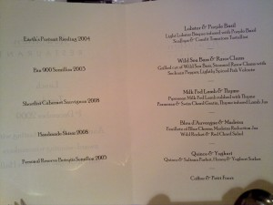 McGuigan Roussillon Menu