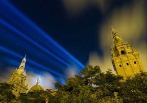 Night time Montjuic, Barcelona