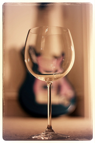 Wine glass and guitar